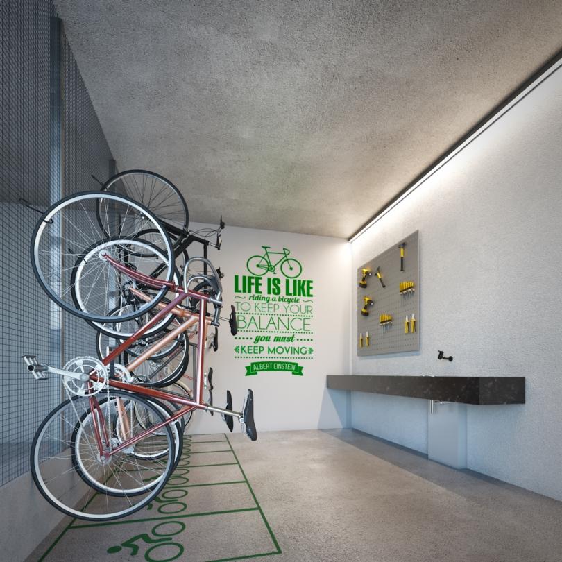 Bicicletário do Omni Ibirapuera